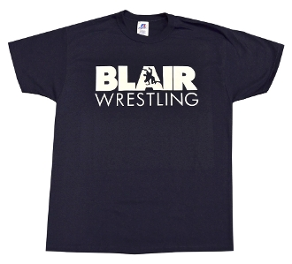 Navy Wrestling T-Shirt